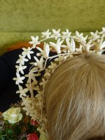 14 antique wax wedding tiara