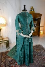 2 antique princess Bustle dress 1878