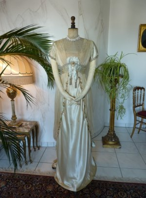 antique WORTH Evening Gown 1906