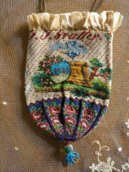 antique beaded Purse 1825