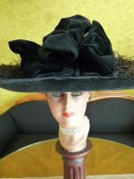 3 antique lampshade hat 1912
