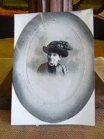 28 antique mourning Hat 1905