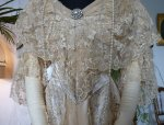 4 antique evening gown Worth 1910