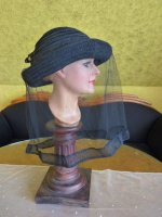 10 antique mourning Hat 1905