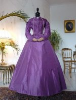 antique dress, dress 1865, gown 1886, antique gown, abito antico, vestido antiguo, day dress 1865, afternoon dress 1865