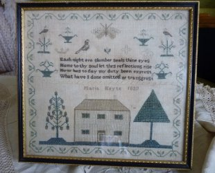 antique sampler 1837