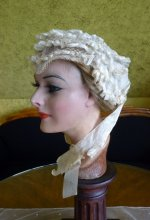 5 antique wedding bonnet 1850