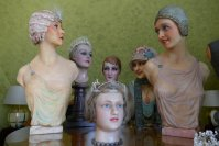 7 antique mannequins