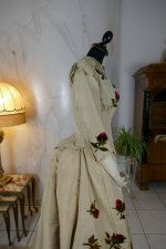 34 antique bustle dress 1880