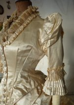 7 antique bustle wedding gown 1879