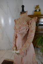 17 antique Rousset Paris society dress 1899