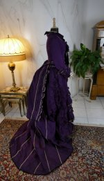 36 antique bustle dress 1874