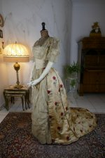 11 antique LEROUX Ball gown 1890