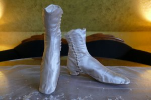 antique HOBBS Wedding Boots 1860