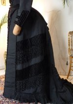 10 antique bustle gown