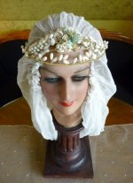 3 antique wax tiara 1920