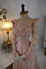 8 antique Rousset Paris society dress 1899