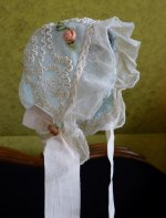 4 antique baby bonnet 1910