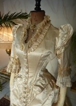 5 antique bustle wedding gown 1879