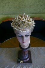 2 antique wax crown 1880