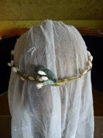 11 antique wax tiara 1920