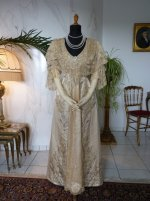 2 antique evening gown Worth 1910