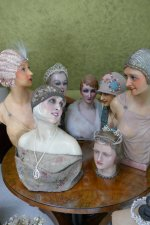12 antique mannequins