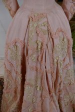 30 antique Rousset Paris society dress 1899