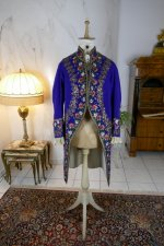 2 antique mens court coat 1860