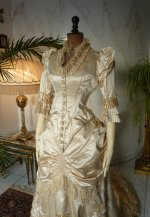 4 antique bustle wedding gown 1879