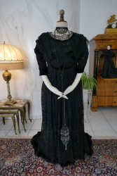 antique evening dress 1908