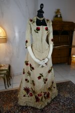 2 antique bustle dress 1880
