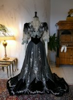 2 antique Gustave Beer gown 1906