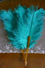 5 antique feather fan 1920