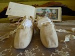 2 antique ball slippers 1810
