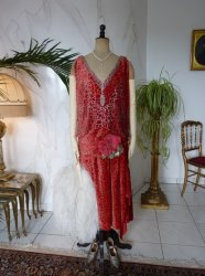 2 antique flapper dress Worth 1920