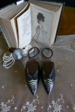 2 antique rococo overshoes 1792