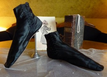 antique romantic period boots 1930