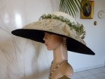 antique hat, antique summer hat, hat 1910, edwardian hat, chapeau ancien, antiek hoeden, summer 1910, antique dress, antique gown, шляпе 1900, шляпе 1910