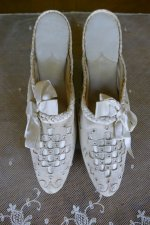 2 antique boudoire slipper 1904