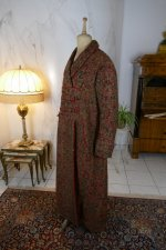 14 antique Mens dressing coat 1865