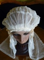 4 antique wedding cap veil 1920