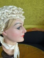 11 antique wedding bonnet 1850