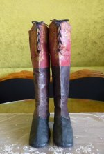 2 antique riding boots 1850