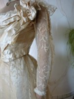 6 antique evening gown JEANNE HALLE 1899