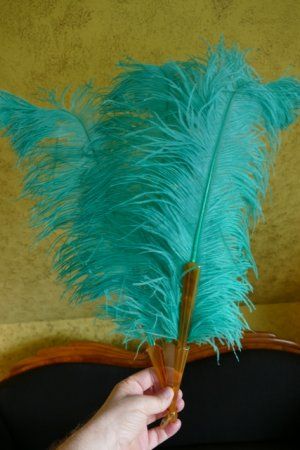 antique feather fan 1920