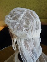 7 antique wedding cap veil 1920