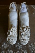 2 antique chevreau leather shoes