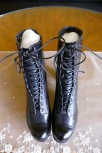 2 antique boots 1910