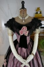 3 antique crinoline ball gown 1855